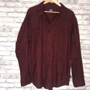 Men's Patagonia Red Plaid Button Up Shirt